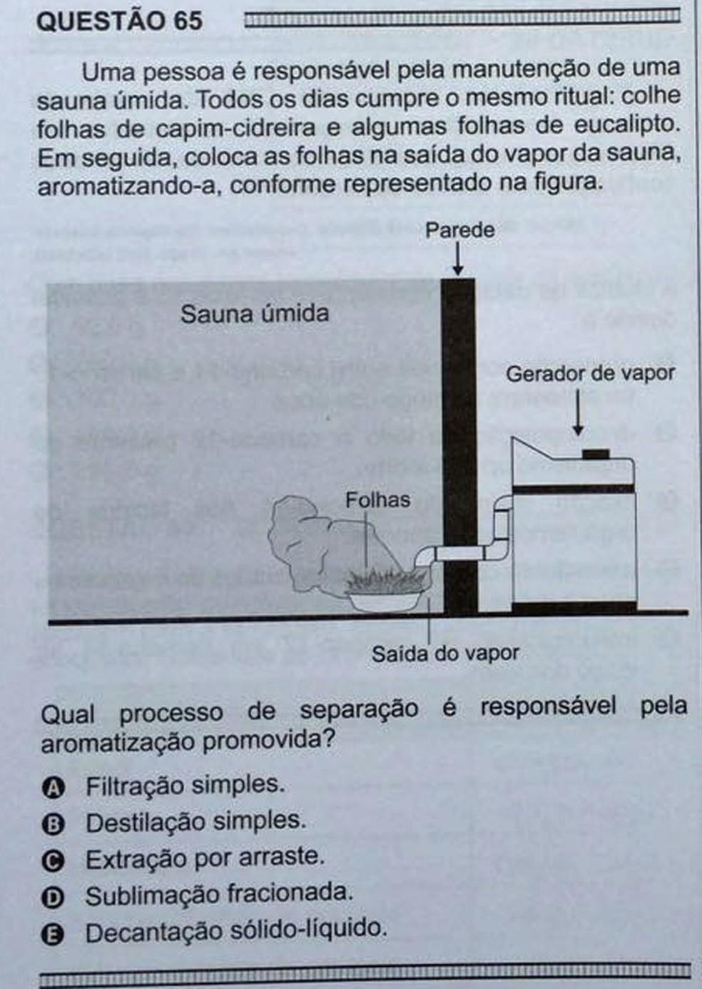 ENEM 2016 - 1º DIA - PROVA BRANCA - QUESTÃO 65 (Foto: G1 )