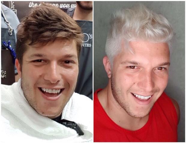 O antes e depois de Gabriel Mandergan (Foto: Divulgação)