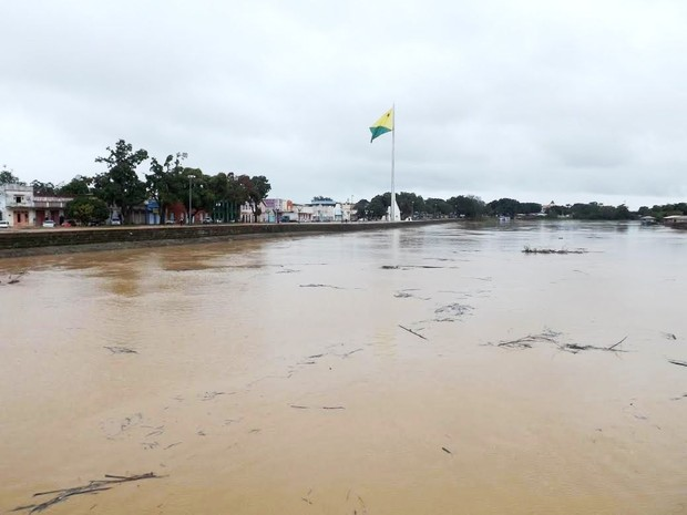 Cheia do Rio Acre, em Rio Branco (Foto: Walcimar Júnior/Arquivo pessoal)