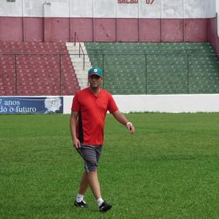 Ricardo Costa, técnico da Portuguesa Santista (Foto: Gabriel dos Santos)