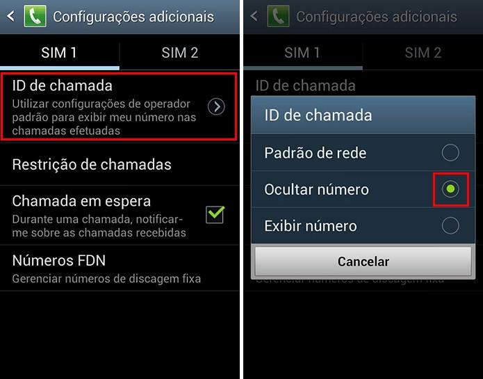 Oculte seu número de telefone ao efetuar ligações (Foto: Reprodução/Paulo Alves)