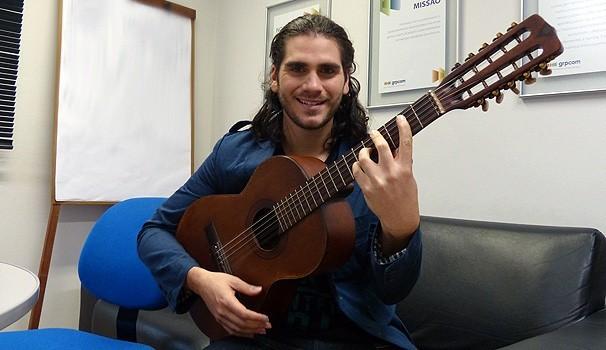 Gabriel Sater no Encontro com Fátima (Foto: Reprodução/Rede Globo)
