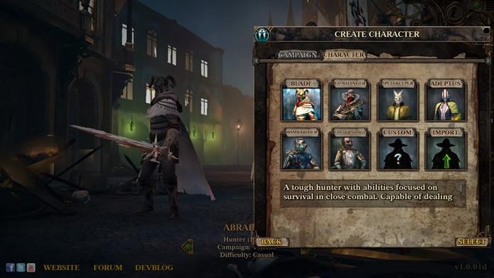 Com opções para importar personagens do game anterior, esta sequência possui três classes de herói com diferentes especializações de ataque (Foto: Reprodução/Daniel Ribeiro)