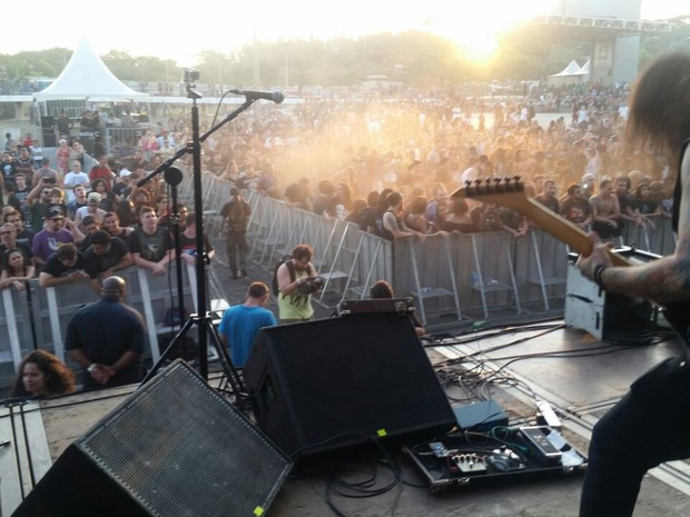 Show reuniu aproximadamente 20 mil pessoas no feriado  (Foto: Gabriel Rapassi)