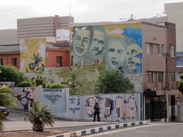 Cidade do Cabo, na África do Sul, adotou o grafite em sua identidade cultural (Foto: Reprodução/Flickr)