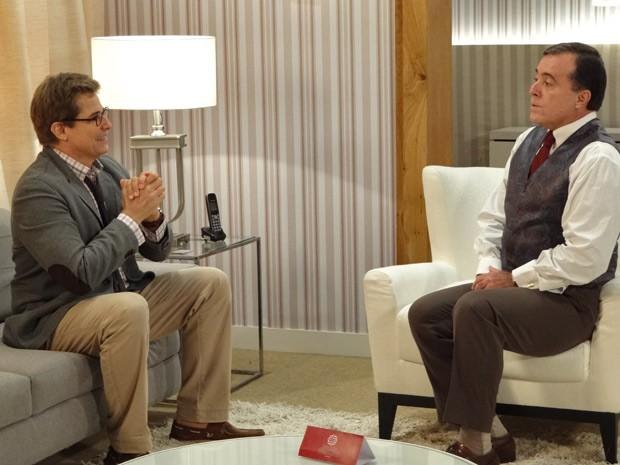 Felipe conta que ganhou a aposta em nome de Otávio (Foto: Guerra dos Sexos / TV Globo)