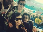 Regina Casé leva a família para ver Usain Bolt: 'Vibrando com o atletismo'