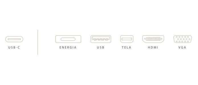 Uma das vantagens do USB-C é a substituição de cabos de dados, vídeo e energia (Foto: Reprodução/Apple)
