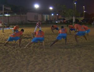 Treino do time de futebol 7 - 14 Bis (Foto: Reprodução/ TV Rondônia)