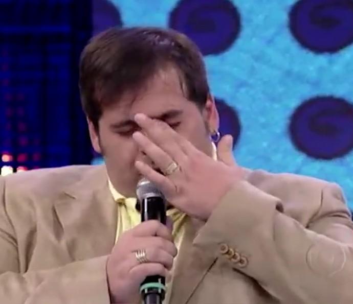 Leandro Hassum se emociona ao falar das dificuldades da sua profissão (Foto: TV Globo)