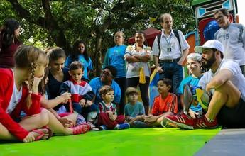 Daniel Dias visita a sede do  Fluminense e conversa com crianças