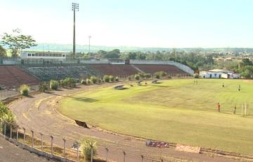 Estádio do Taquarão, em Taquaritinga (Foto: Reprodução EPTV)