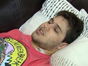 Guilherme lamenta que as pessoas usem o cerol nas pipas como forma de diversão (Foto: Reprodução/EPTV)