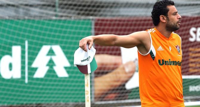 Fred, Treino do Fluminense nas Laranjeiras (Foto: Nelson Perez / Fluminense FC)