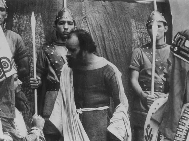 Paixão de Cristo encenada em 1960 (Foto: Arquivo Pessoal/ Robinson Pacheco )