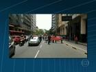 Empregados de estaleiro fechado fazem protesto em Niterói