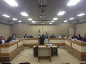 Primeira audiência da operação 'Eclésia', ocorre no Tribunal de Justiça (Foto: Abinoan Santiago/G1)
