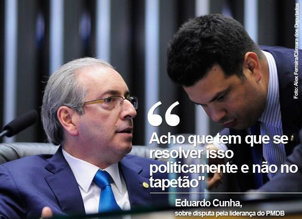 O presidente da Câmara, Eduardo Cunha, fala sobre disputa pela liderança do PMDB (Foto: Alex Ferreira/Câmara dos Deputados)