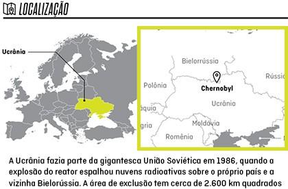 Mapa mostra de Chernobyl (Foto: Autoesporte)