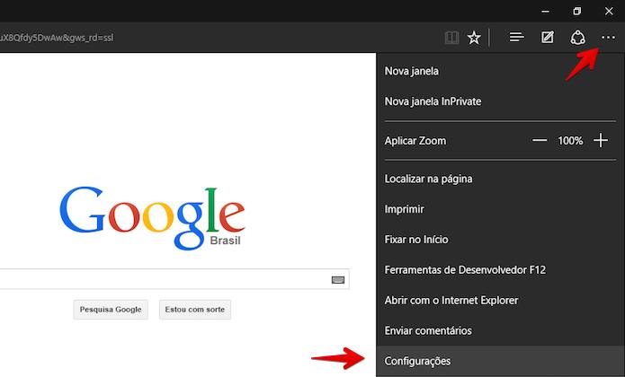 Acesse as configurações do navegador (Foto: Reprodução/Helito Bijora)
