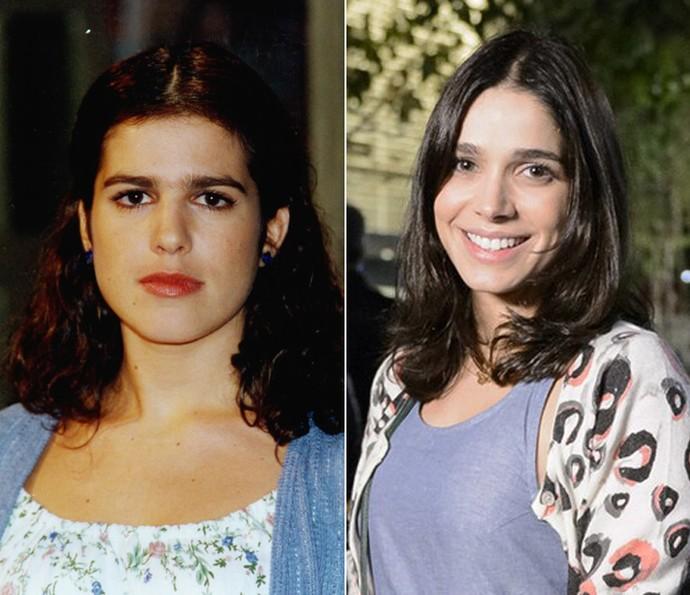 À esquerda, Karina Barum como a Shirley de 'Torre de Babel' e, à direita, Sabrina Petraglia como a atual personagem de 'Haja Coração' (Foto: CEDOC / Ramón Vasconcelos / TV Globo)