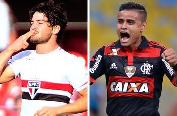 Alexandre Pato e Everton São Paulo x Flamengo (Foto: Globoesporte.com)