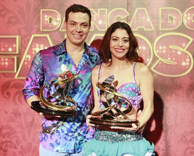 Carol Castro é a campeã do Dança dos Famosos 2013 (Foto: Domingão do Faustão/ TV Globo)