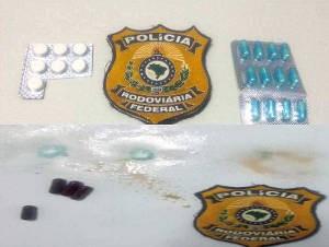 Drogas apreendidas em Mãe do Rio no domingo, 6 (Foto: Divulgação / PRF)