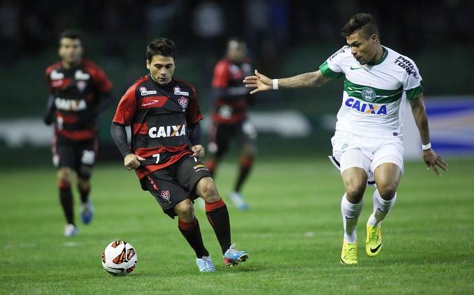 Maxi Biancucchi e Junior Urso Vitória x Coritiba (Foto: Giulianos Gomes / Ag. Estado)