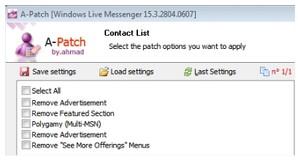 Configurações A-Patch para MSN 2011