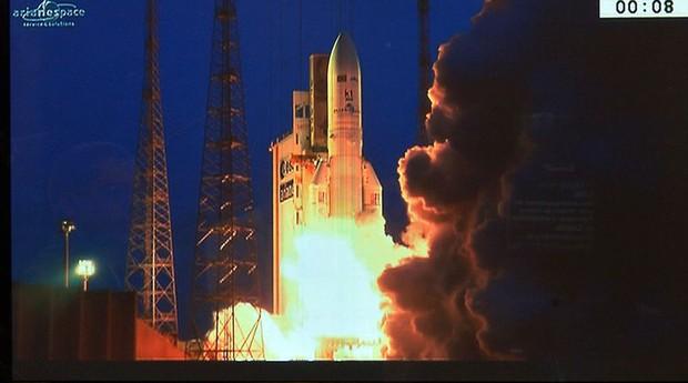 Satélite SGDC foi lançado de base na Guiana Francesa (Foto: Agência Brasil)