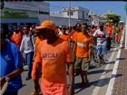 Servidores da limpeza fazem novo protesto nesta quarta em Cabo Frio