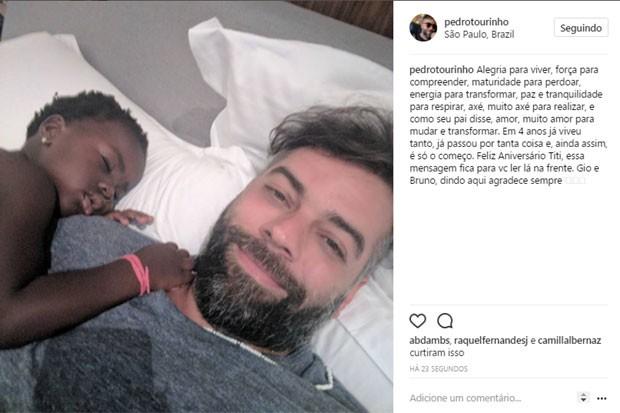 Pedro Tourinho e Titi (Foto: Reprodução)