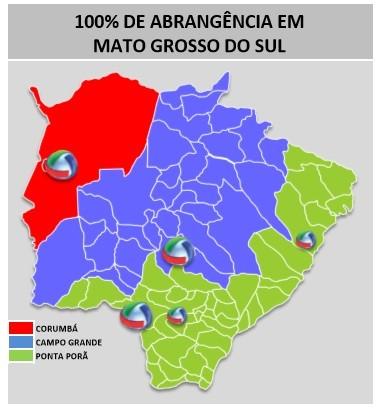 Área de cobertura da TVMO (Foto: TVMO)