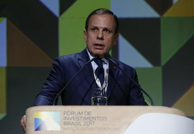 João Doria durante o Fórum de Investimentos Brasil 2017 (Foto: Agência Brasil)
