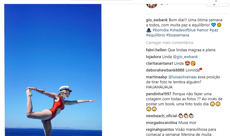 Giovanna Ewbank irrita seguidora no Instagram (Foto: reprodução/Instagram)