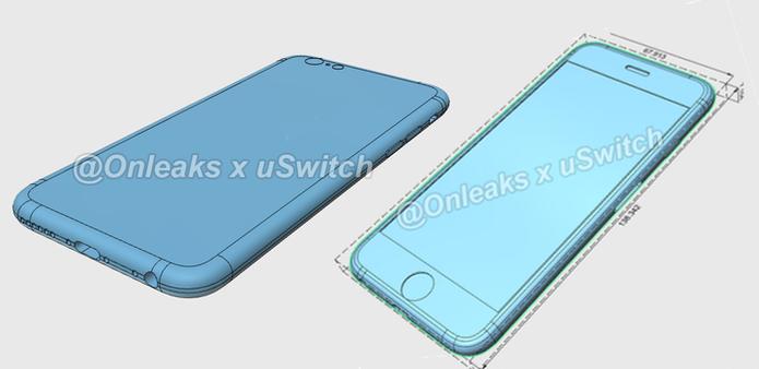 iPhone 6S deve chegar com um corpo um pouco mais espesso que geração atual (Foto: Reprodução/Onleaks X)