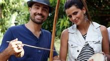 Famosos se arriscam em roda de capoeira; vídeo (Domingão do Faustão / TV Globo)