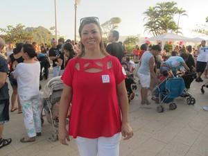 Sandra Abreu tirou as dúvidas na roda de conversa (Foto: Jéssica Bitencourt / G1)