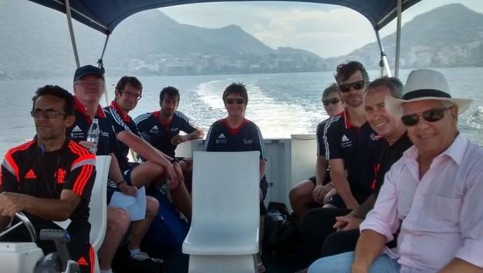 Equipe britânica canoagem visita Flamengo (Foto: Divulgação/Brasil 2016)
