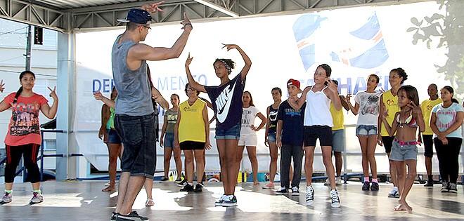 ensaio de dança (Foto: reprodução - Prefeitura de Itanhaém)