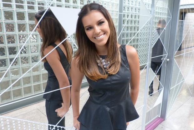 Mariana Rios garante que é magra de ruim! Será? (Foto: Encontro com Fátima Bernardes/ TV Globo)