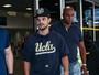 Adam Sandler e Taylor Lautner desembarcam em São Paulo