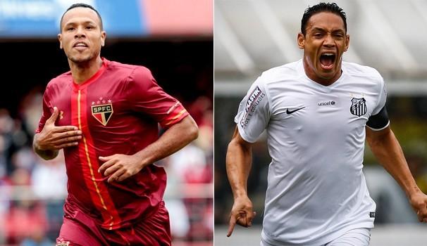 São Paulo e Santos duelam pela Copa do Brasil. Globo transmite duelo ao vivo (Foto:  Reprodução GE)