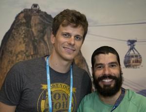Cesar Cielo e nadador Daniel Dias, maior medalhista do Brasil em Paralimpíadas (Foto: Fernando Maia / MPIX / CPB)