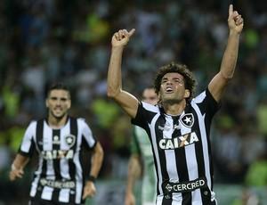 Camilo comemora gol contra o Atlético Nacional (Foto: RAUL ARBOLEDA / AFP)