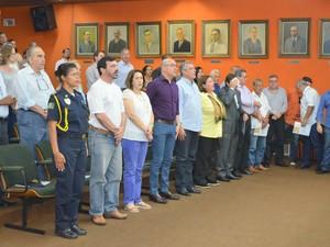 Posse dos secretários em Piracicaba (Foto: Carol Giantomaso/G1)