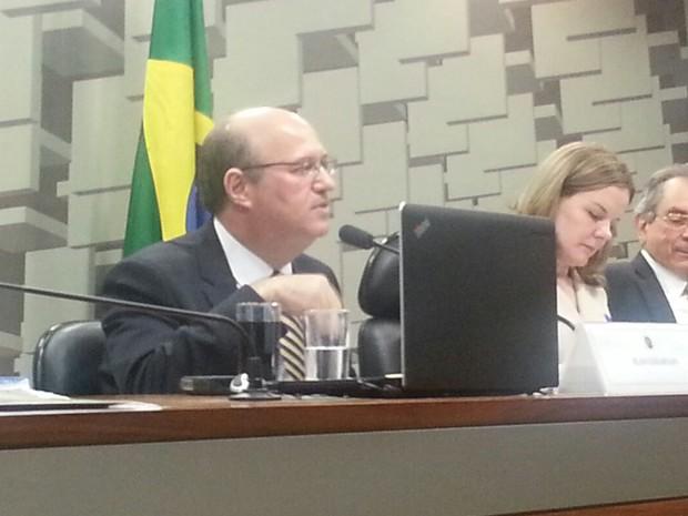 Ilan Gondfajn, indicado por Temer para presidir o Banco Central, durante sabatina na CAE (Foto: Alexandro Martello)