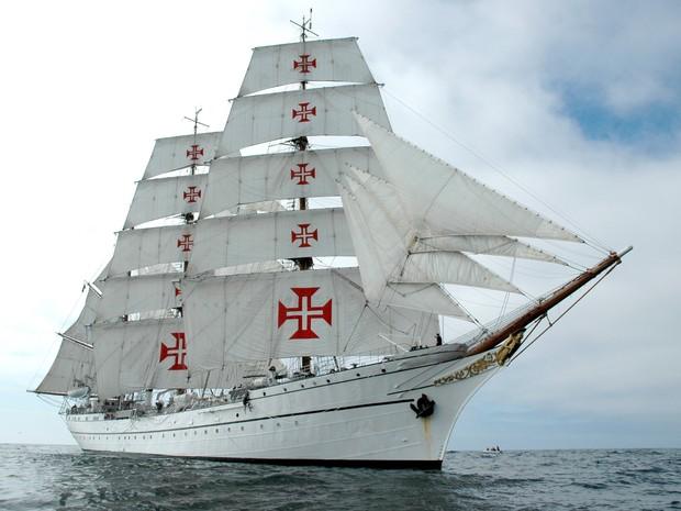 Navio-escola Sagres da Marinha Portuguesa [Foto: Marinha Portuguesa/Divulgação)