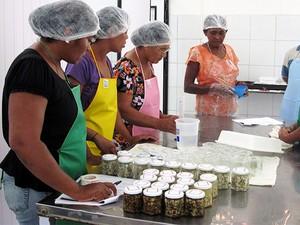Associação das Mulheres Pescadoras e Artesãs de Grossos passou a comercializar mariscos processados (Foto: Gustavo Henrique Gonzaga da Silva/ Ufersa)